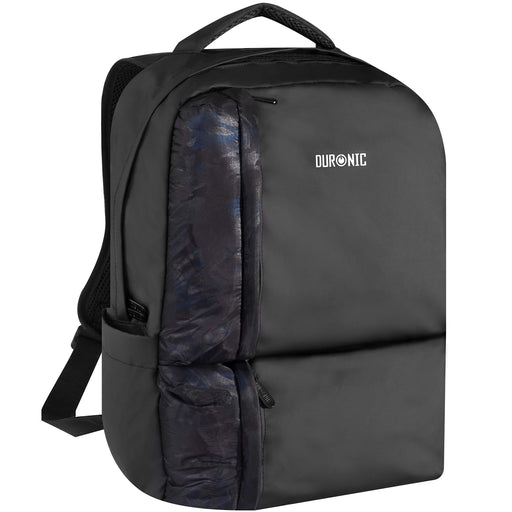 Duronic Laptop Backpack LB24| Casual Bag for School, College, University | Water-Resistant Rucksack | 15.6-inch Internal Padded Laptop MacBook Sleeve | Lightweight | Black/Blue | 2 Bottle Pockets…