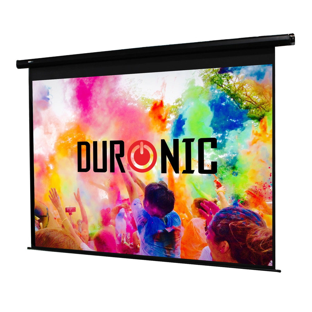 Duronic Projector Screen EPS80/43 HD Electric Projection Screen For | School | Theatre | Cinema | Home Projector (Screen: 163cm(w) X 122cm(h) Motorised switch control 4K / 8K Ultra HDR 3D Ready (4:3)