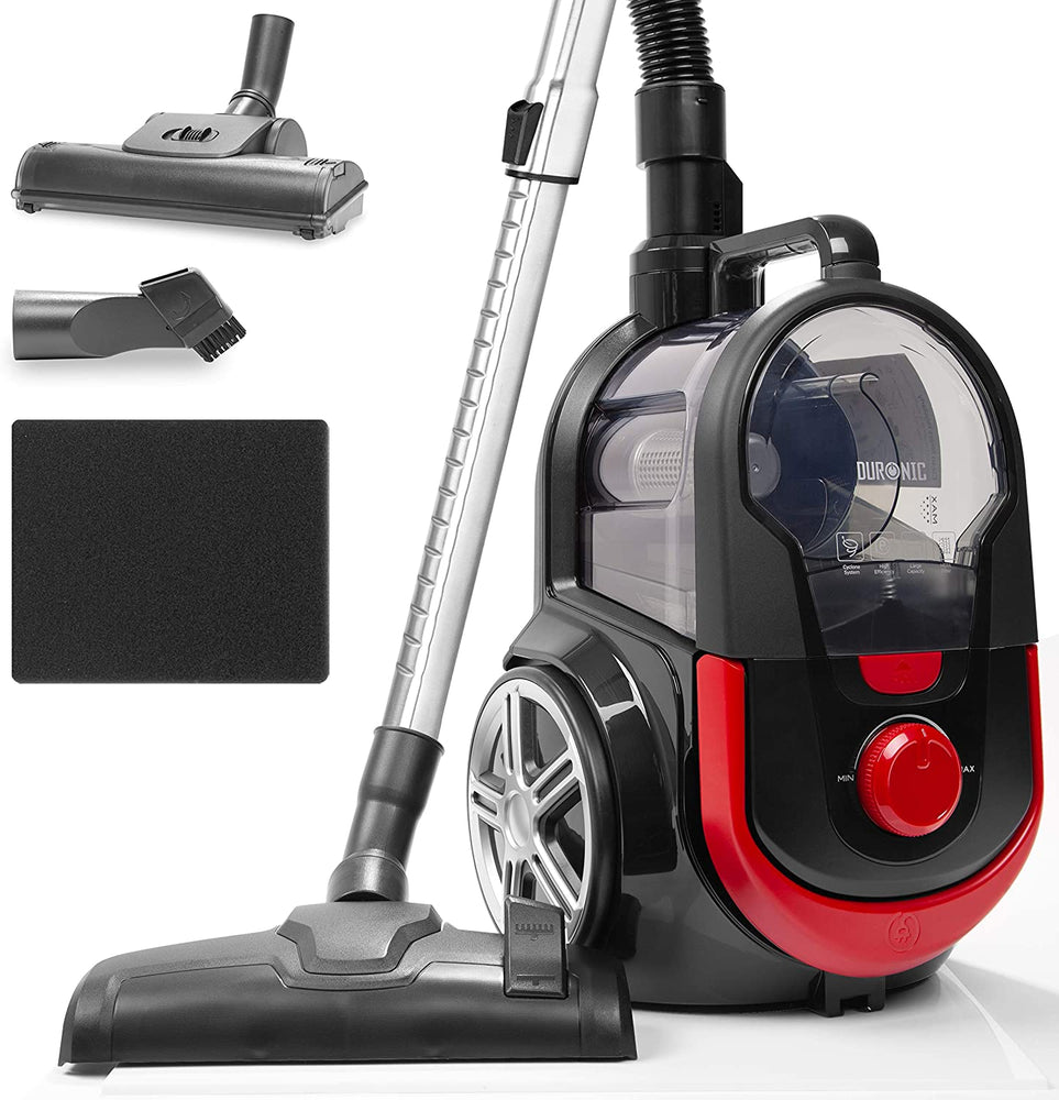 Duronic Bagless Cylinder Vacuum Cleaner VC7020 | Cyclonic Pet Carpet and Hard Floor Cleaner | 700W | HEPA Filter | Extendable Hose | Turbo Brush & 2-in-1 Tool Included [Energy Class A+]…