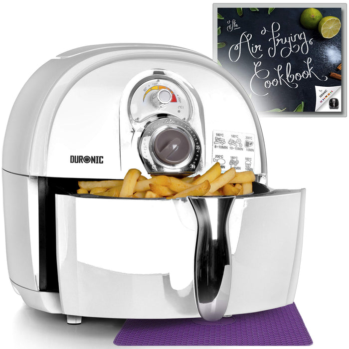 Duronic Air Fryer AF1 /W WHITE | Oil-Free & Low-Fat Healthy Cooking | Mini Oven | 1500W | 4.5L | Timer Function|Adjustable Temperature | Fry Chips, Chicken, Tasty Nutritious Meals | Free Recipe Book…