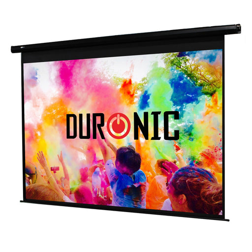Duronic Projector Screen EPS60/43 HD Electric Projection Screen | School | Theatre | Home Cinema Matte White Screen (Size: 122cm(w) X 91cm(h) - Motorised switch control 4K / 8K Ultra HDR 3D Ready (4:3)