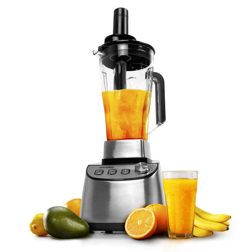 Duronic Smoothie Blender BL1510 Heavy Duty 1500W Active Stainless Steel Powerful Table Top Blender with BPA-Free 2L Jug and a Food Pusher