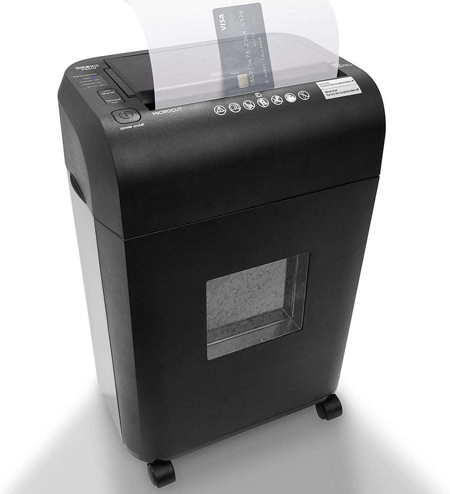 Duronic Paper Shredder PS609 | 6-9 A4 Sheets / 100 Sheet Autofeed | Micro Cross Cut | Electric Office Shredder | GDPR Compliant: Protect Against Data Theft | 17 Litre Bin | Thermal Overload Protection