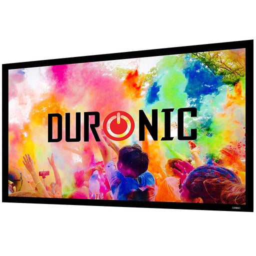 Duronic Projector Screen FFPS133/169 | 133-Inch Fixed Frame Projection Screen | Wall Mountable | +1 Gain | HD High Definition Image | 16:9 Ratio | Ideal for Home Theatre, Classroom, Office…