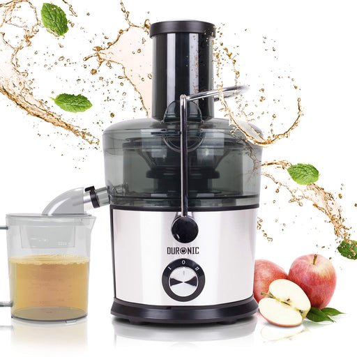 Duronic Juicer JE7C | Centrifugal Juice Extractor | 2 Speed Settings | 800W | Stainless-Steel | Wide Mouth | For Whole Fruit and Vegetables | Homemade Freshly Squeezed Juice | BPA-Free | With 1L Jug…