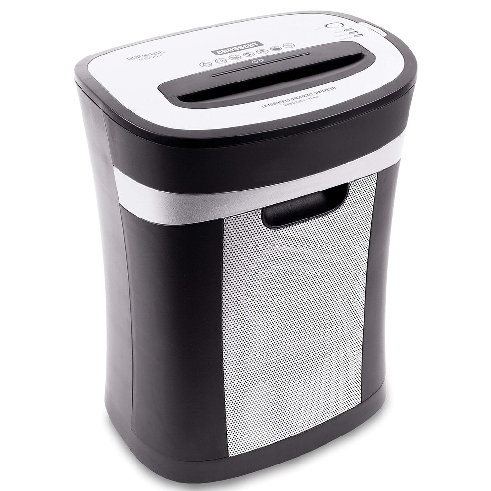 Duronic Paper Shredder PS581 | 12-15x A4 Sheets at a Time | Destroys 1 Credit Card/CD/DVD | Cross Cut | Electric | 22L Bin | GDPR: Protects Against Data Theft | Thermal Overload Protection…