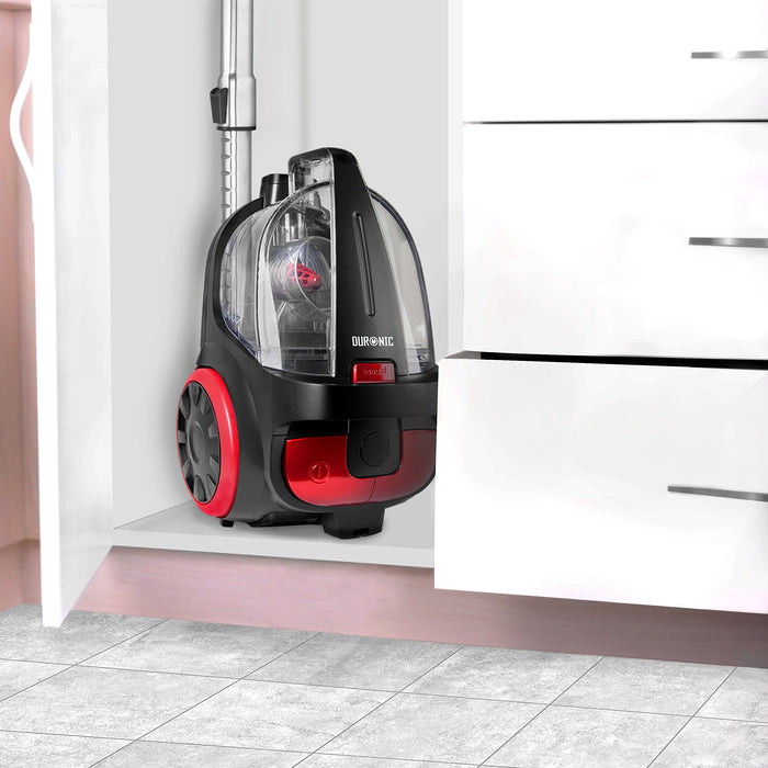 Duronic Vacuum Cleaner VC5010 Electric Bagless Sweeper | Energy Class A+ | 500W | Cyclonic | Cylinder | Carpet and Hard Floor Cleaner
