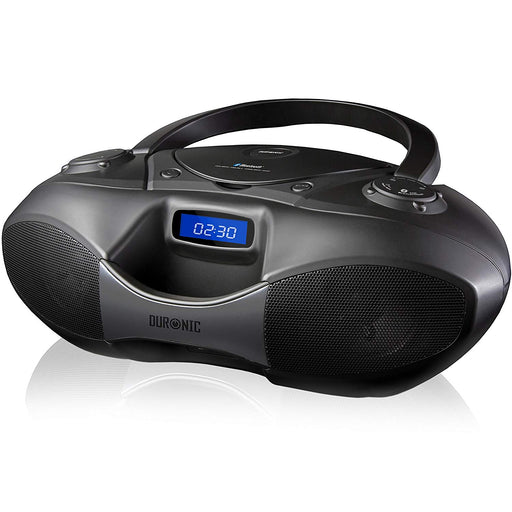 Duronic RCD6200 Bluetooth CD Player Boombox Black, Radio, Flash memory MP3 Playback, and Connect and play via AUX socket / Bluetooth from your iPhone/iPod/Mobile phone/MP3 Player