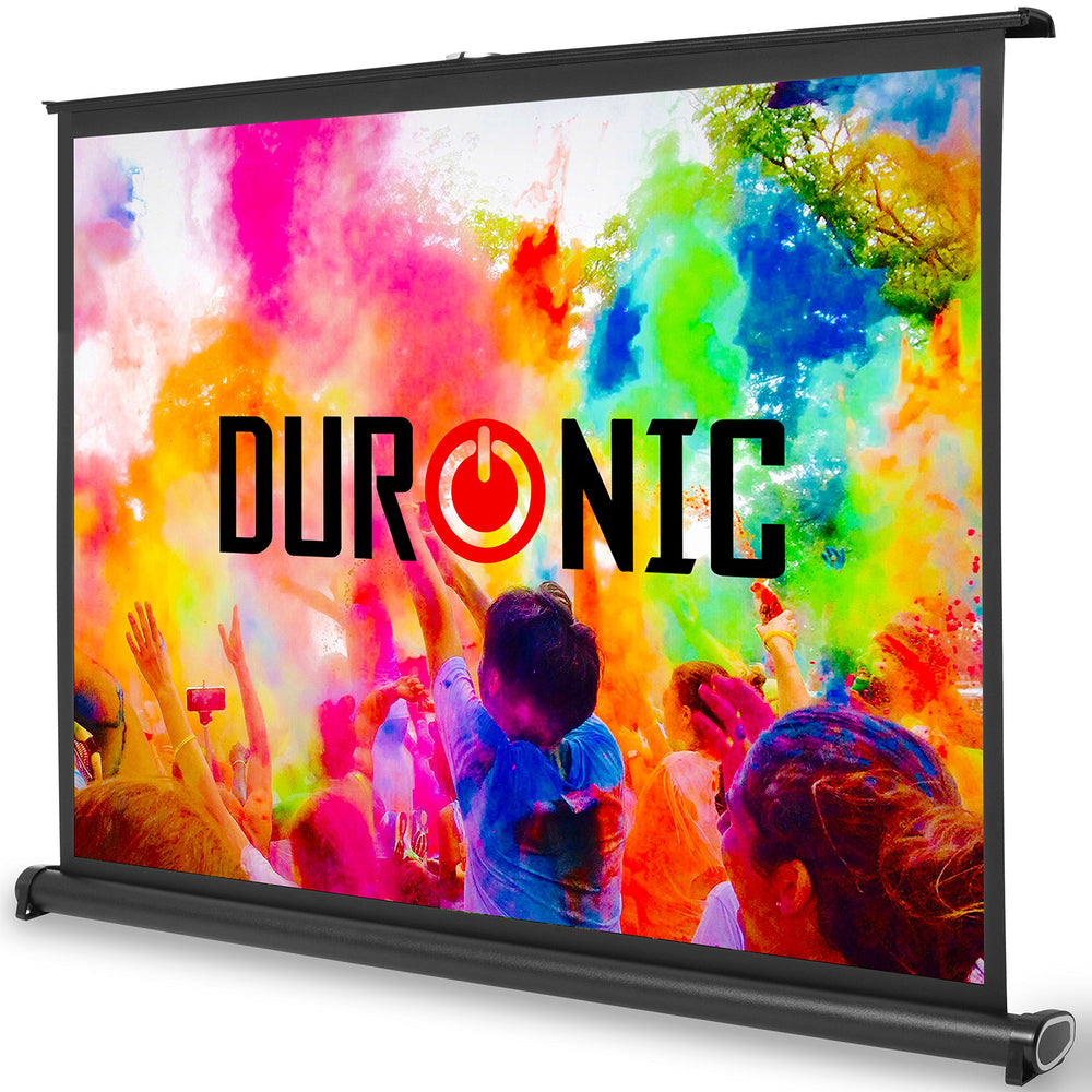 "Duronic DPS40 /43 Portable Desktop 40"" Projection Screen For 