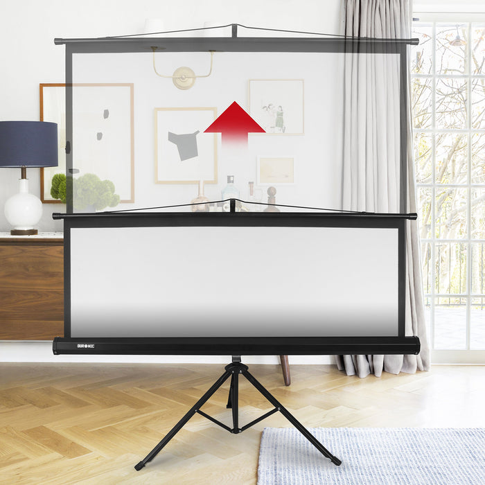 Duronic Projector Screen Tps50 43 50 Portable Tripod Projection Screen Brilliant Matt White For School Theatre Cinema Home Screen 102cm