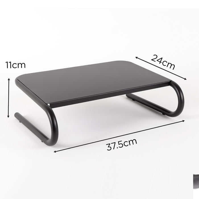 Duronic Monitor Stand Riser DM071 | Laptop and Screen Platform for Desktop | Metal Support for a TV Screen or PC Computer Monitor | Ergonomic Office Desk Shelf | 10kg Capacity | 37cm x 24cm