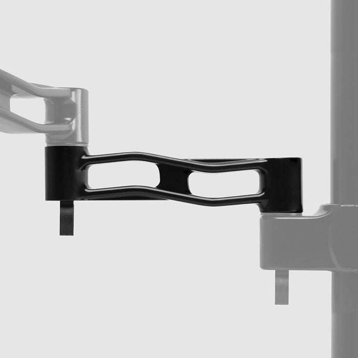 Duronic Spare Arm DM35 [SINGLE] 1x Arm Compatible with All Duronic Monitor Desk Mounts and Poles | BLACK | Aluminium | 18cm x 4cm | Use to Extend DM351, DM352, DM353, DM354
