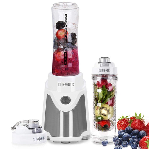 Duronic Blender BL505 | Blend & Go Smoothie Maker | Personal Blender | Tritan Bottle | BPA-Free | 500W | Blend Fruit, Vegetables, Herbs | Mix Protein Shakes | Includes 2x 600ml Bottles Plus Infuser…