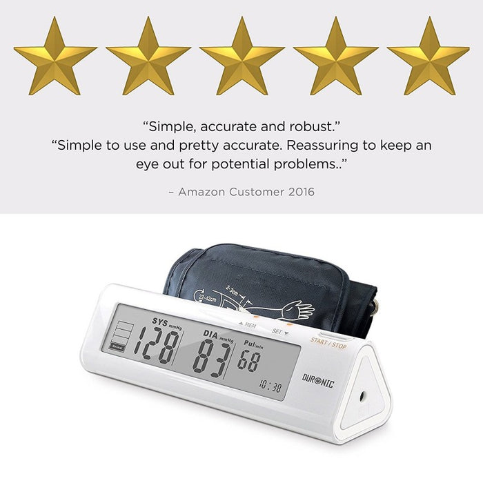 Duronic Upper Arm Blood Pressure Monitor BPM450 | Automatic | BP Machine for Professional and Home Use | Large Digital LCD Display | Desktop | 60 Record Memory | Medium-Large 22cm-42cm Cuff