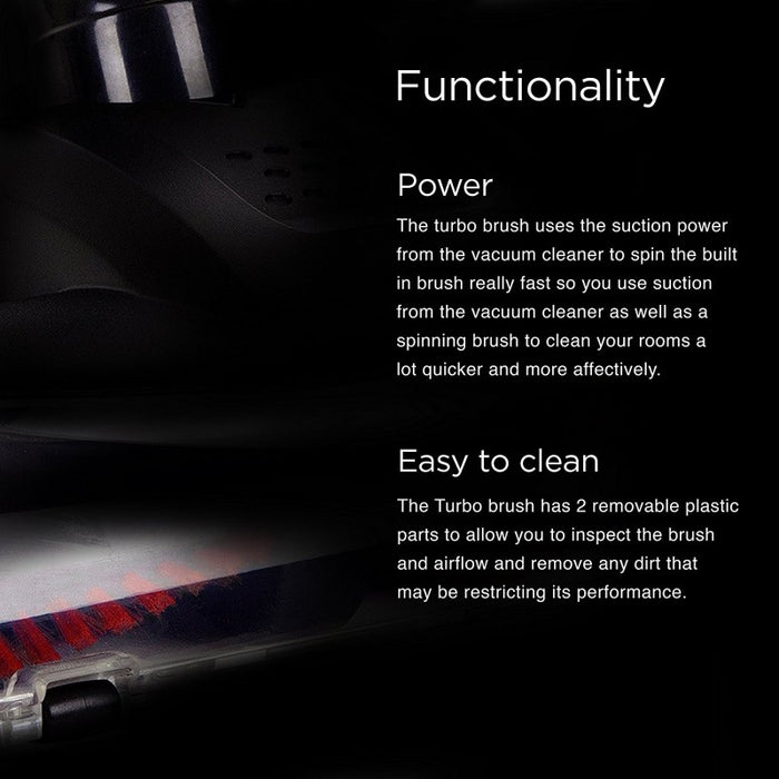Duronic Turbo Brush VC8TB - Adds extra cleaning power to the VC8 Stick Vacuum Cleaner