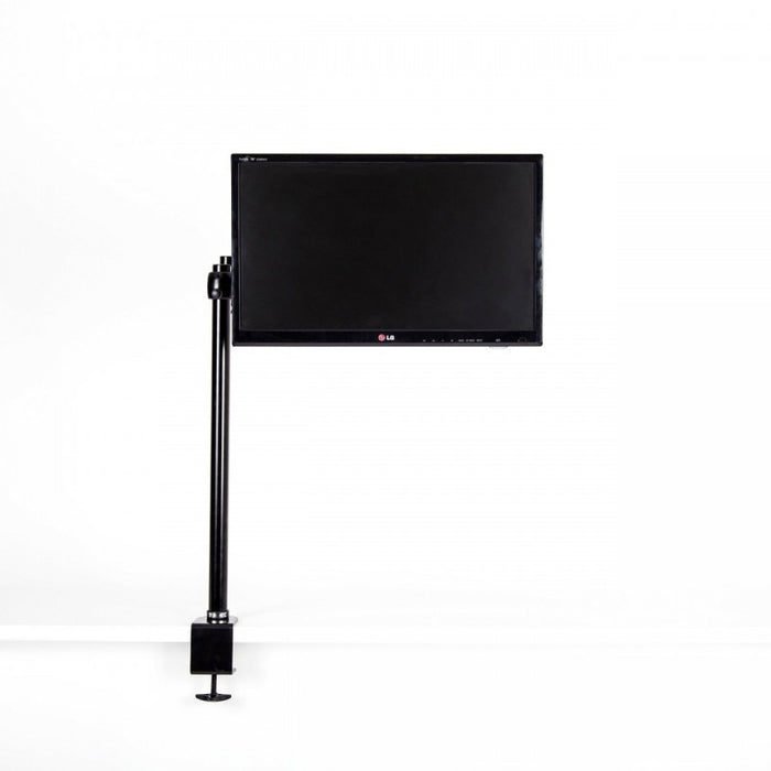 Duronic DM35 80cm Pole | Compatible with All Duronic Monitor Desk Mount Arms | Black | Steel | Extra Long | 800mm Length | 32mm Diameter | Clamp Included