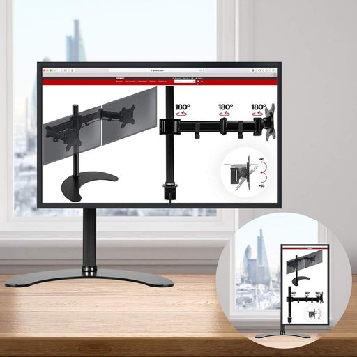 "Duronic Monitor Arm Stand DM25D1 | Freestanding | Single PC Desk Mount | Steel | For One 13-27"" LED LCD Television or Computer Screen 