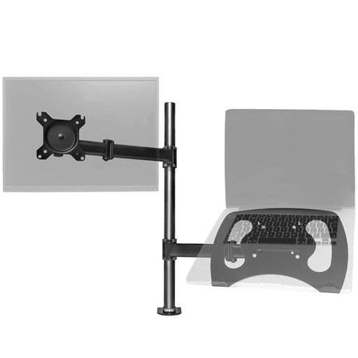 "Duronic DM25L1X1 Single LCD LED Desk 13""-27"" Mount Arm Monitor Laptop Stand Bracket with Adjustibility (Tilt ±45°