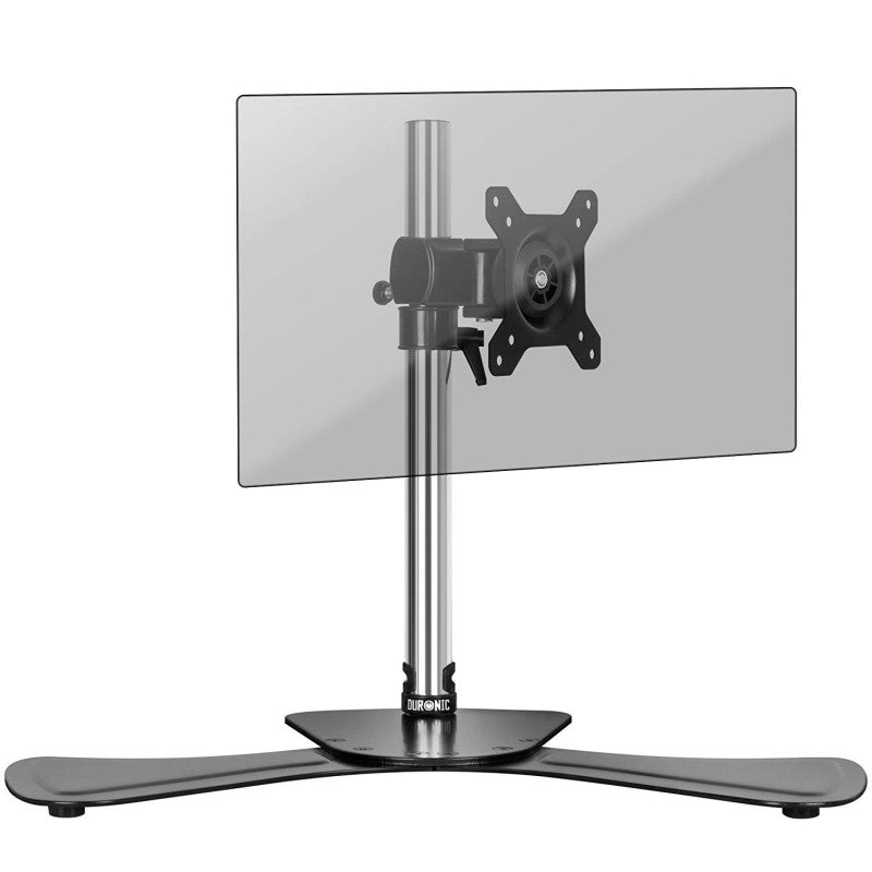 Duronic DM751 Single Adjustable Height LCD LED Desk Top Mount Arm Monitor Stand Bracket with Tilt and Swivel (Tilt ±15°|Rotate 360°) + 10 Year Warranty