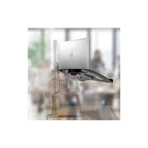 Duronic Laptop Attachment Stand DML1 | Desk Mount Support Tray for Laptop, Tablet or MacBook | VESA 75/100 | 8kg Capacity | Compatible with DM15 DM25 DM35 DM45 DM55 DM65 DMUSB DMDC DMG