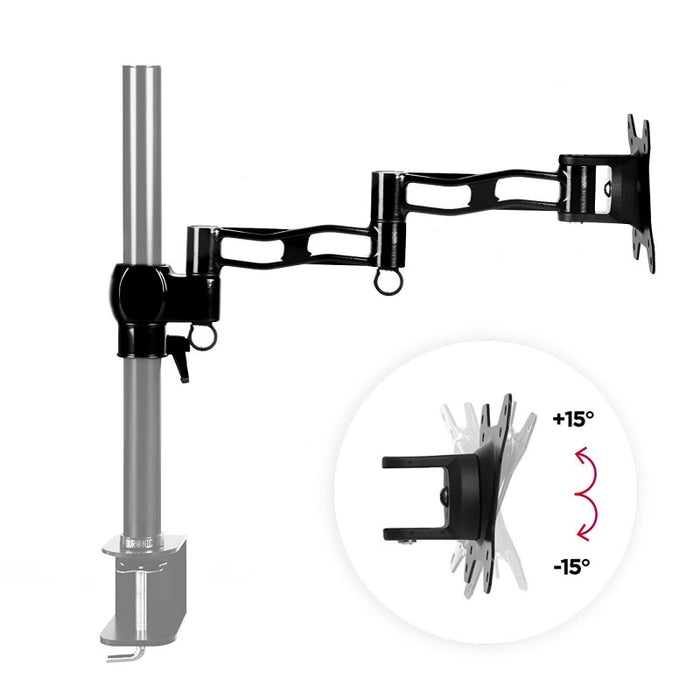Duronic Spare Arm Set DML5 BK | Whole DM35 Arm with VESA Head | Compatible with All Duronic Monitor Desk Mounts & Poles | BLACK | Aluminium | 18cm x 4cm each | Use to Extend DM351, DM352, DM353, DM354