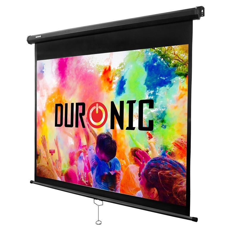 "Duronic Projector Screen MPS60/43 Manual Pull Down HD Projection Screen For | School | Theatre | Cinema | Home Projector Screen - 60"" (Screen: 122cm(w) X 91cm(h) Matte White Screen 4K / 8K Ultra HDR 3D Ready (4:3)"