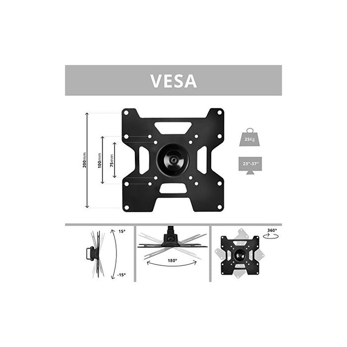 "Duronic TVB1135TV Bracket Wall Mount Universal Tilt Swivel Cantilever 23"" - 30"" 32"" 37"" (VESA 75,100, 200) LCD Monitor TV Arm Bracket Wall Mount"