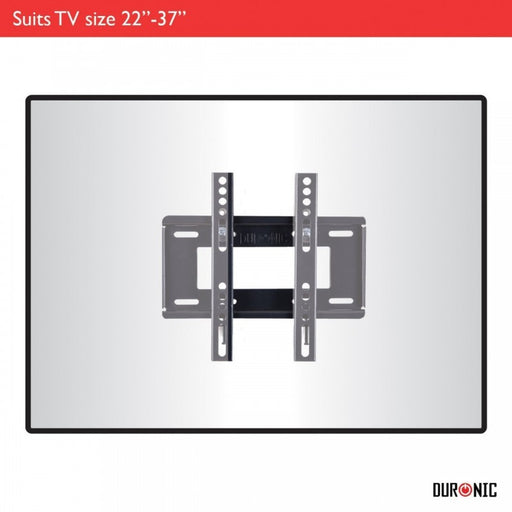 "Duronic TVB122S Extra Slim Fixed Black Wall Bracket/Mount For Plasma, LCD,3D & LED Screens For 19"" - 37"" Wide Screens 19"" 23"" 26"" 32"" 37"" (MAX VESA 200)"