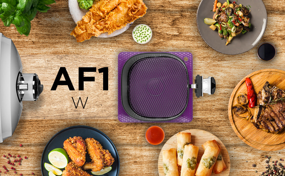af1, white, air, fryer, mini oven, basket, cooking, frying