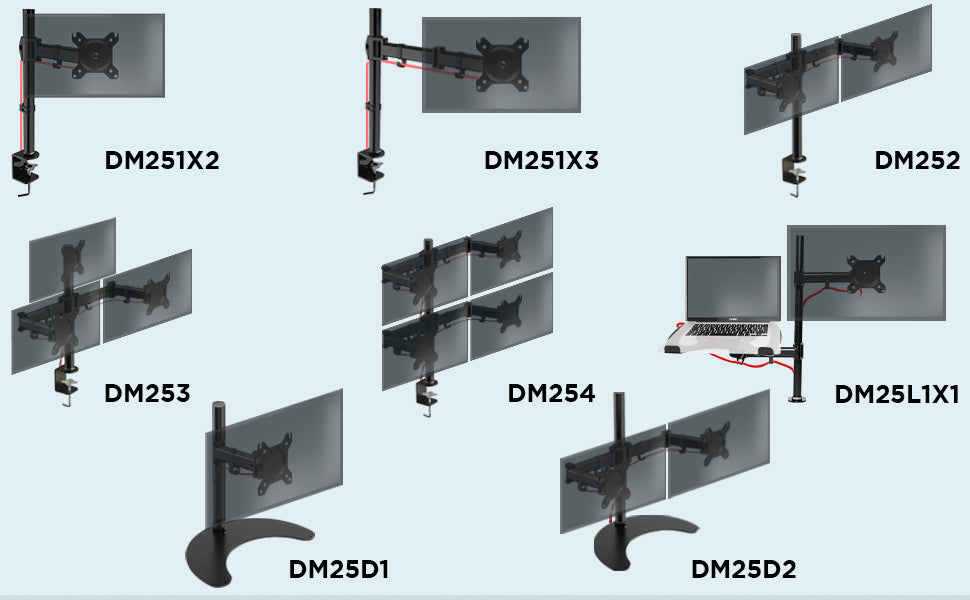 duronic, desk, mount, dm35, dm351x1, range, whole, dm351x2, dm351x3, dm352, dm353, dm354, dm351x1
