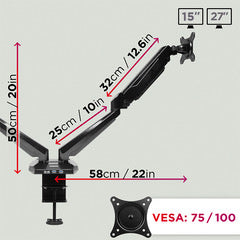 360, cable, management, swivel, rotate, tilt, tilting, swivelling, head, vesa, clamp, joints
