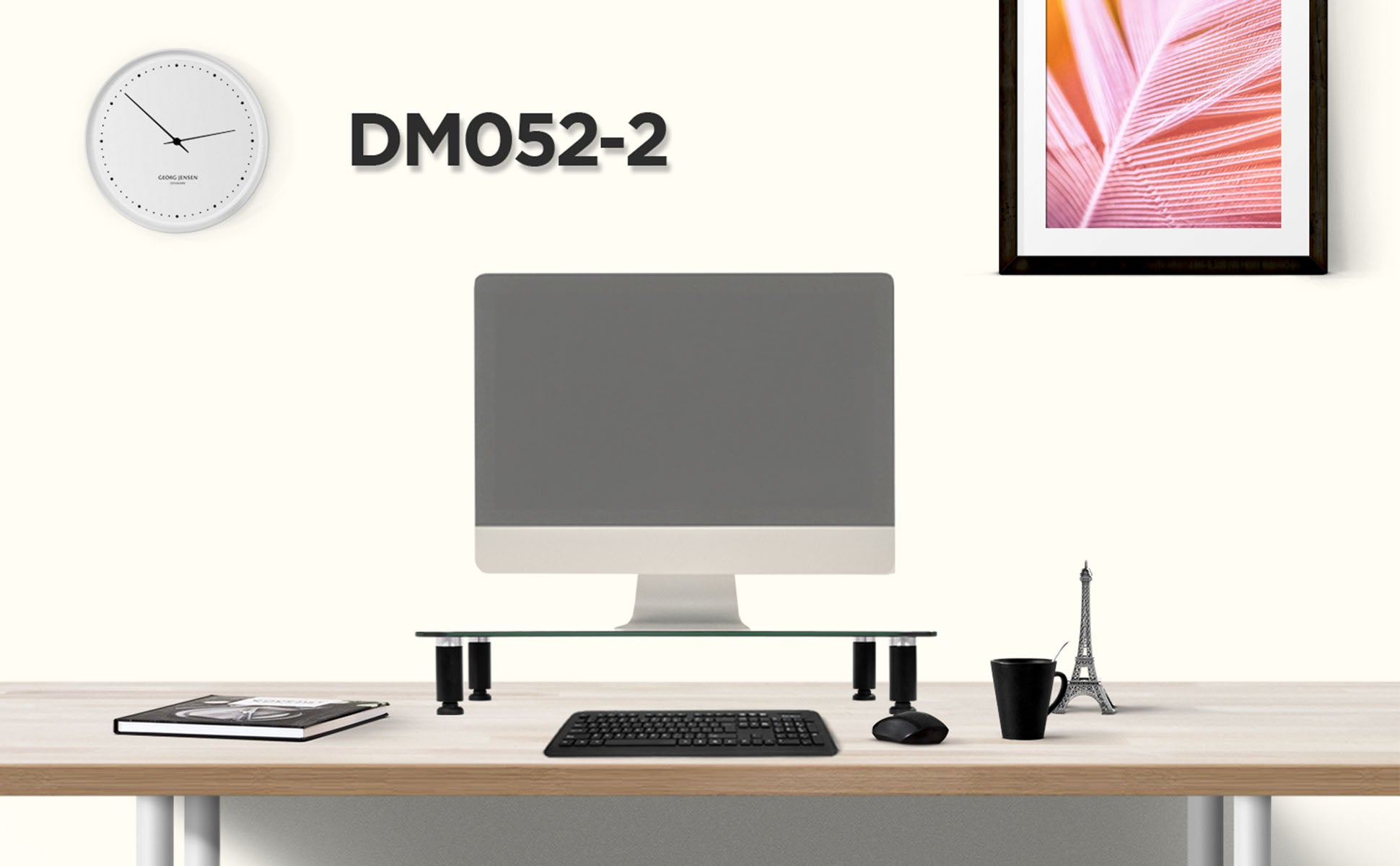 dm451x1, silver, desk, mount, bracket, stand, support, riser, arm, double, two, twin, duo, dual, office, computer