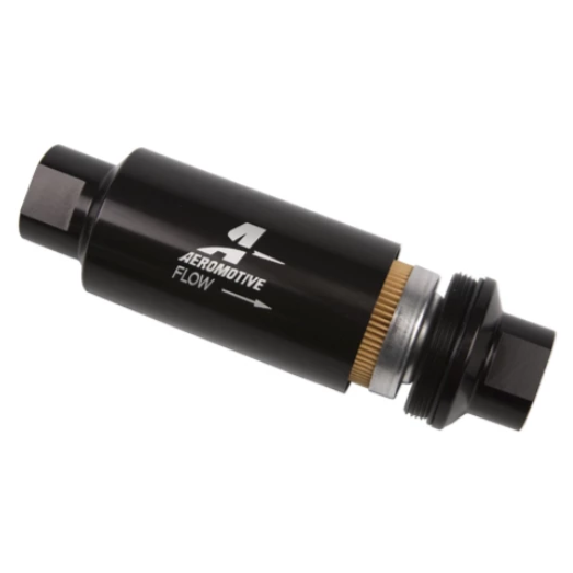 Aeromotive 10 Micron, ORB-10 Black Fuel Filter