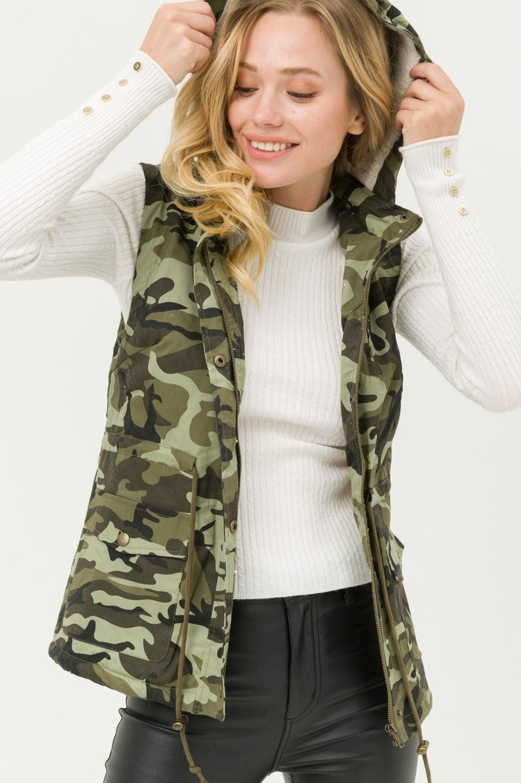 Steelblue Lovetree Camoflauge Hooded Vest