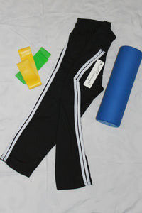 CAPRI LEGGING - BLACK W/WHITE STRIPE