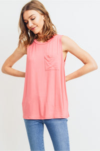 Women's Sleeveless Pocket Top