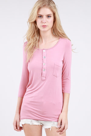 TUNIC HENLEY TOP