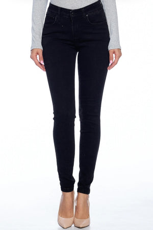 {Blue Age} Basic Solid Black Denim Jeans