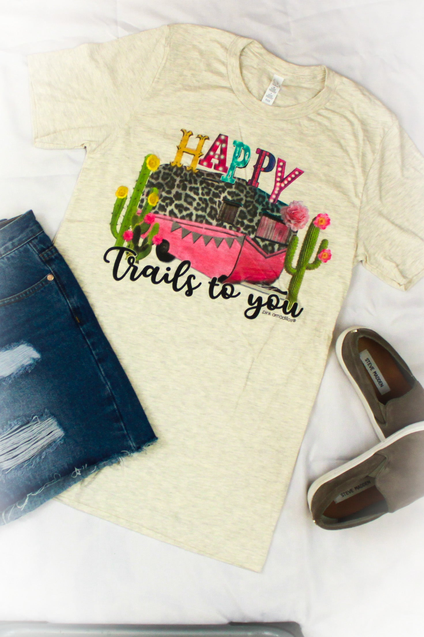 Happy Trails Vintage Boyfriend Graphic Tee