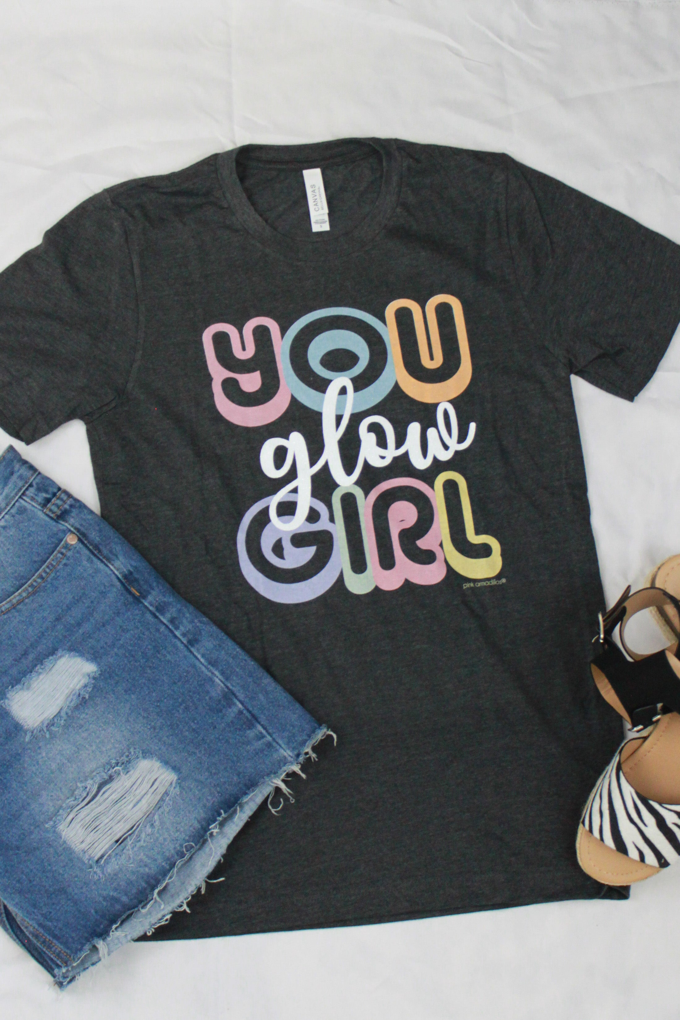 """YOU GLOW GIRL"" VINTAGE BOYFRIEND TEE"