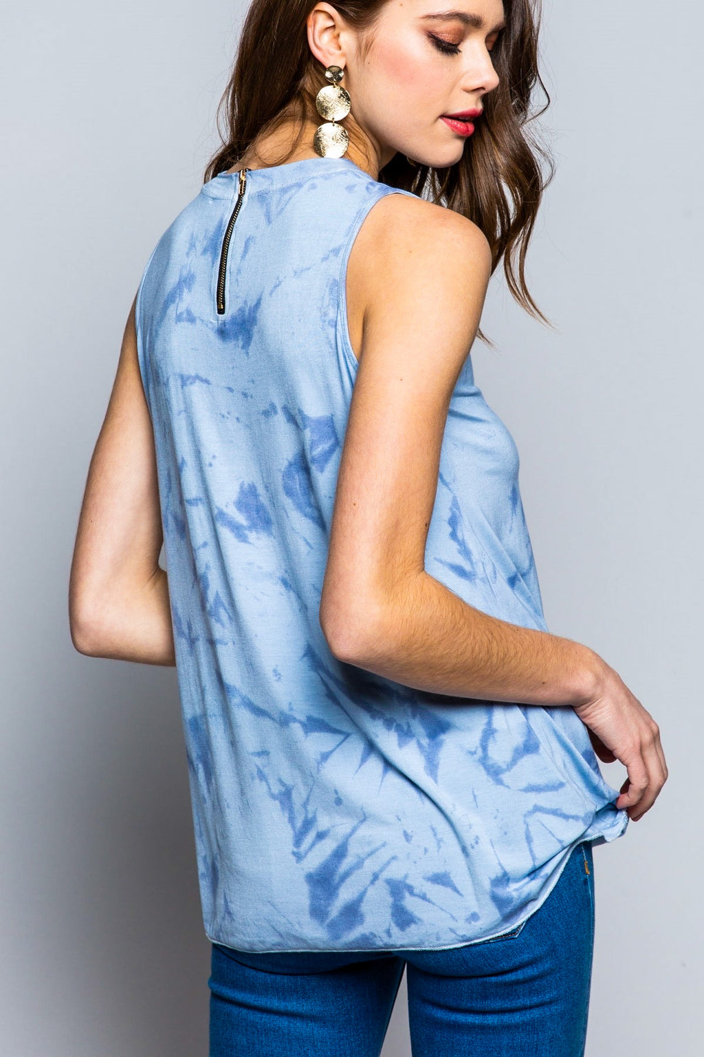 hand dip dye top sleeveless