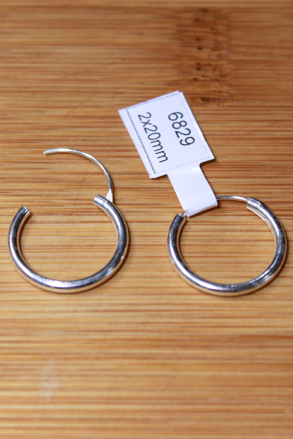 STERLING SILVER 2mm x 20mm CONTINUOUS EARRING