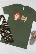 Boss Lady Since Birth Graphic Tee Military