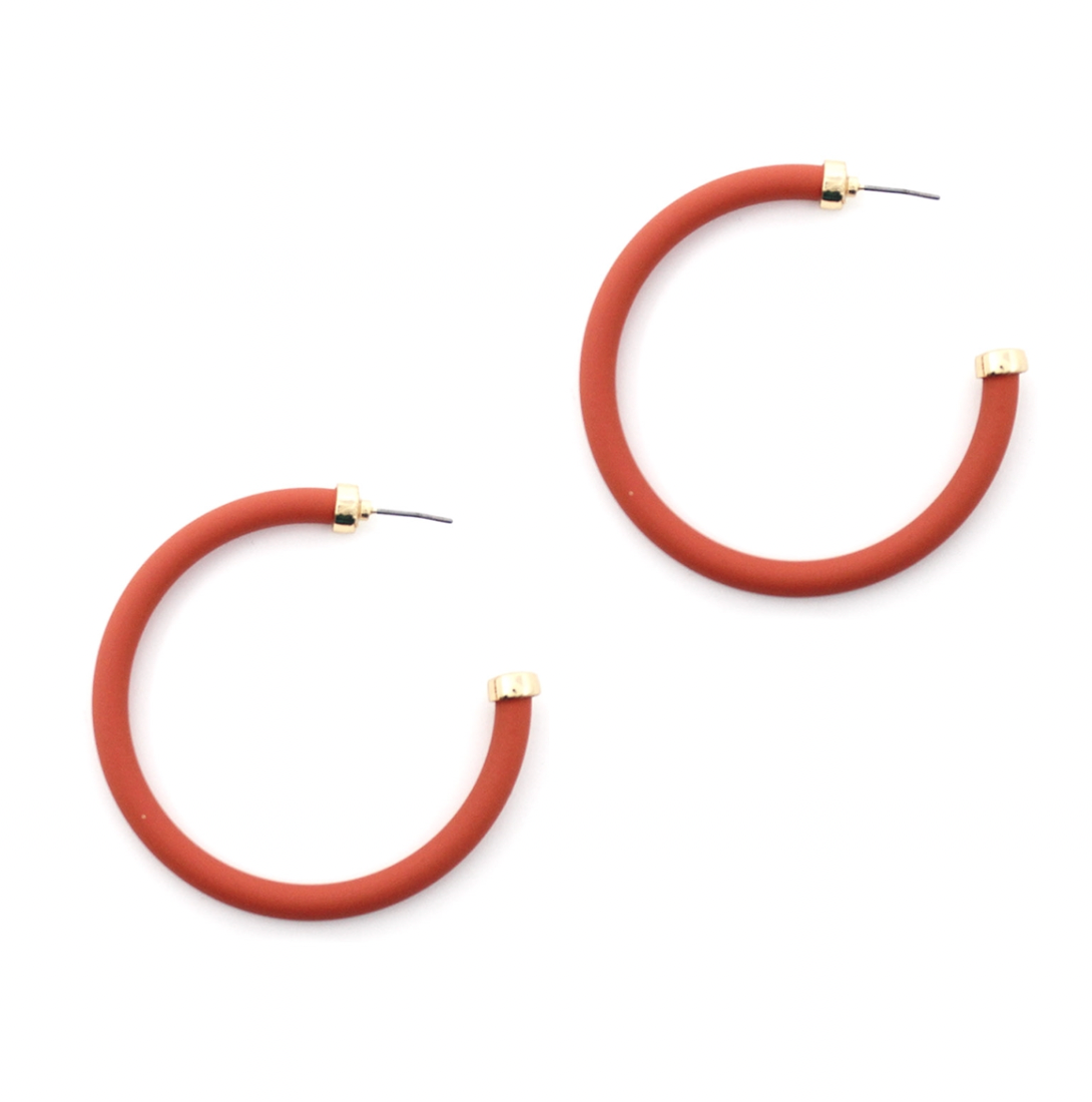 Coral Coated Hoops