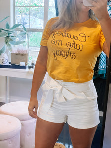 Yellow Cowboy Take Me Away Tee