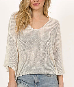 White Tied Back Sweater