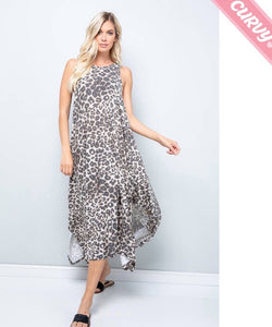 Leopard Jersey Midi Dress (curvy)