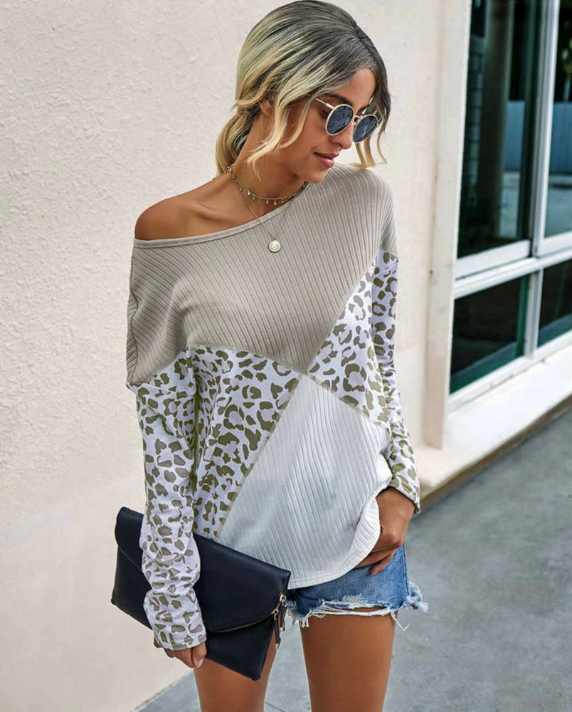 Leopard Block Top