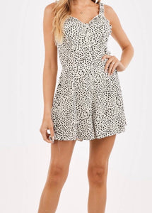 Button Up Cheetah Romper