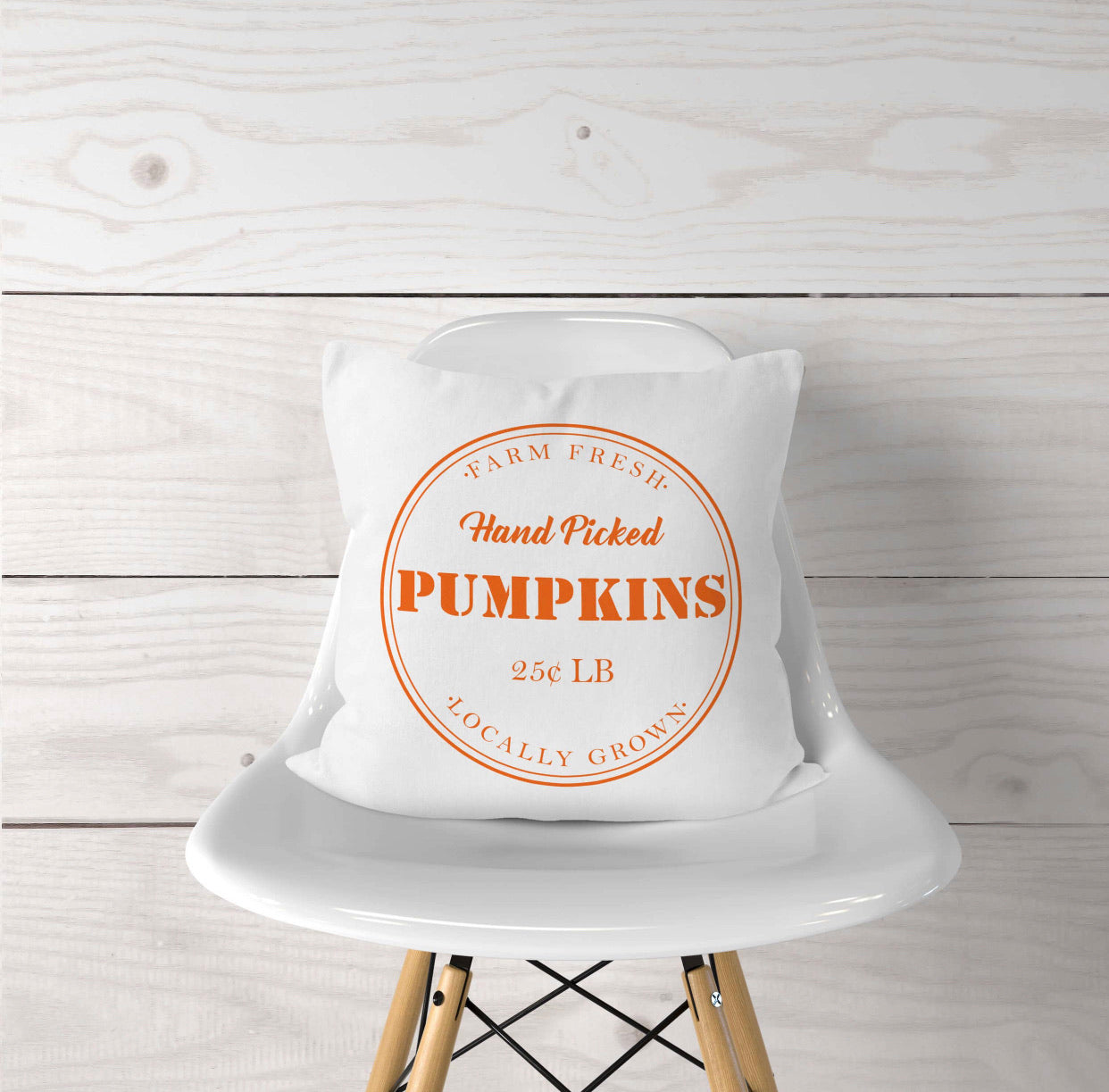Hand Picked Pumpkin Pillow Cover
